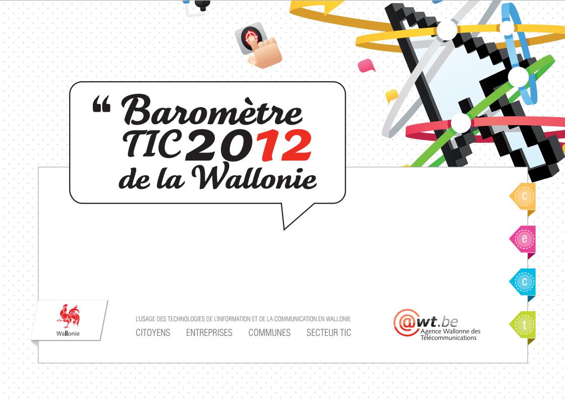 Baromètre TIC 2012 de la Wallonie