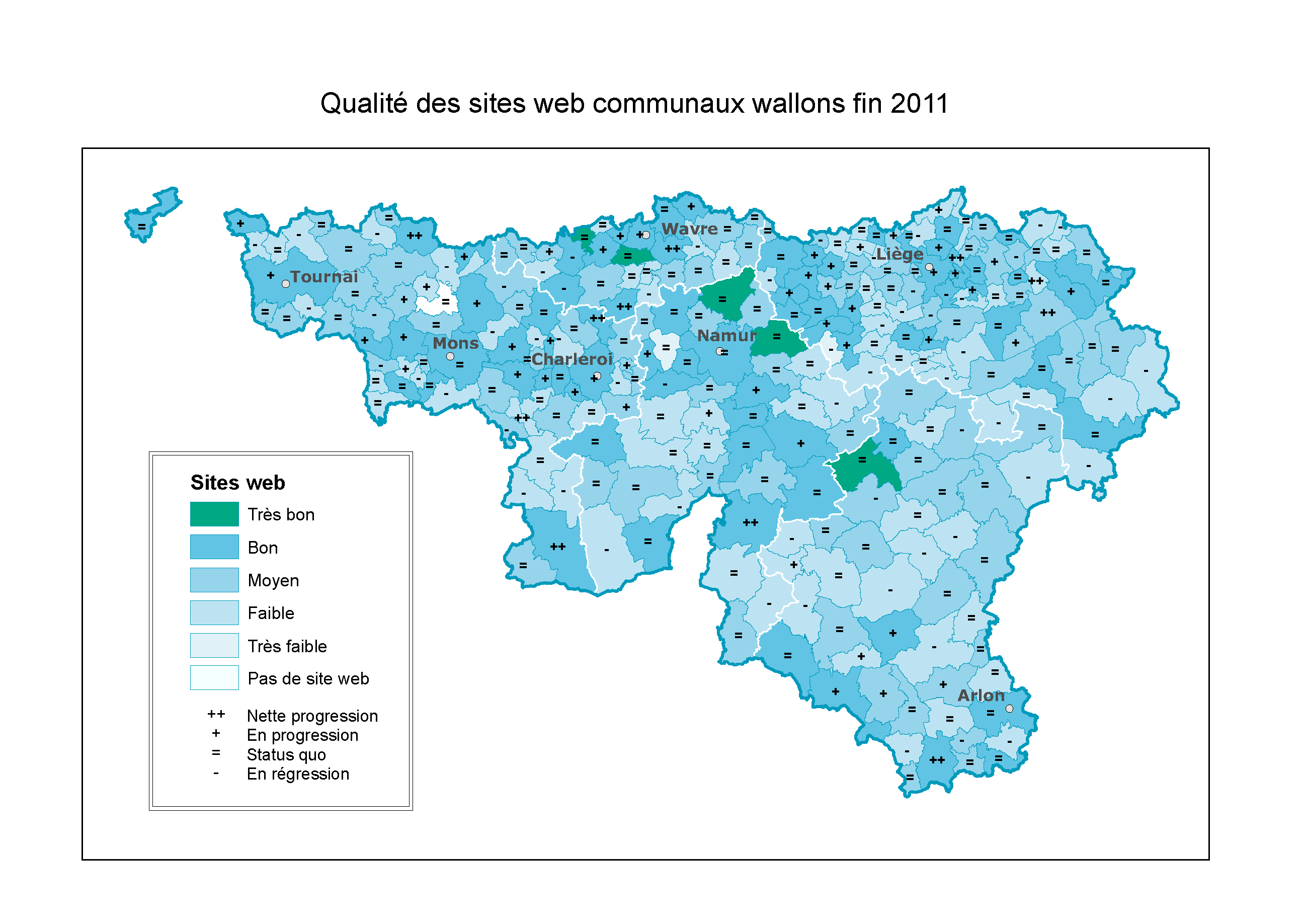 Les sites web communaux wallons