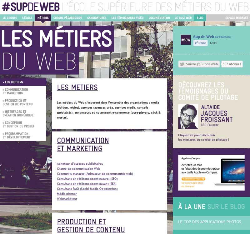 Ecole Supérieure des Métiers du Web