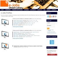 Fiches métiers de e-Jobs Observatory