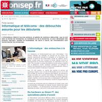 ONISEP fiches métiers informatique et télécoms