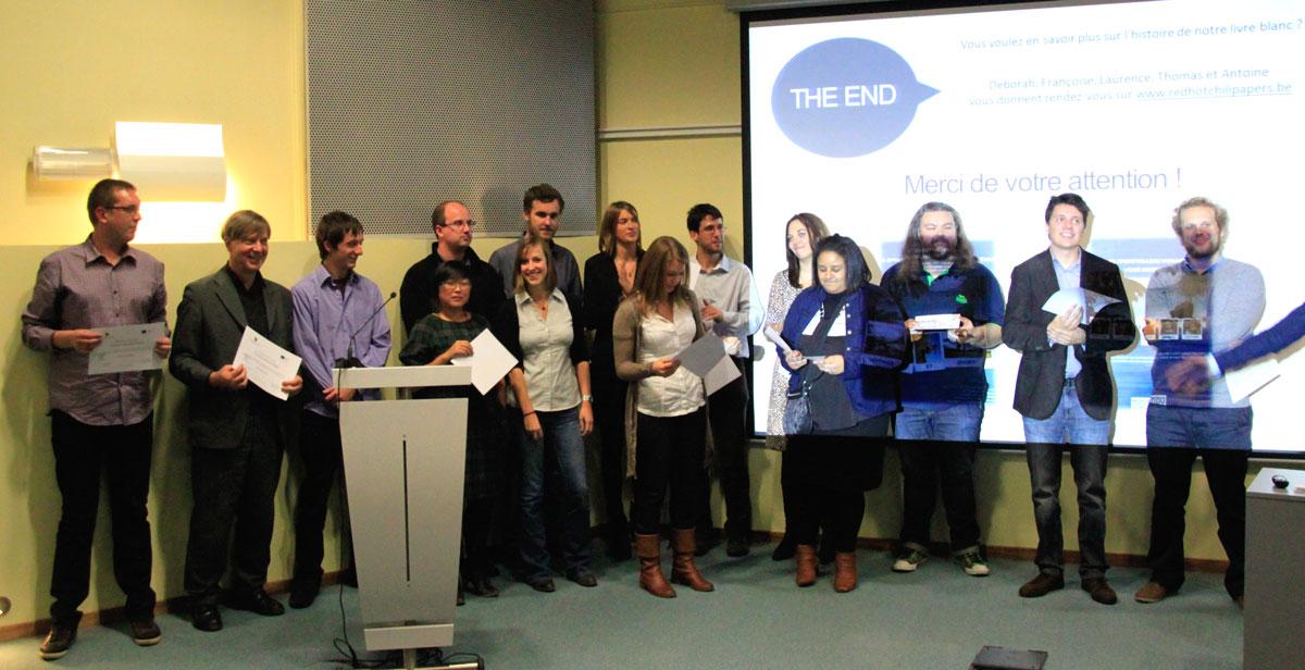 Les nouveaux communicants web du Technofutur TIC 2012